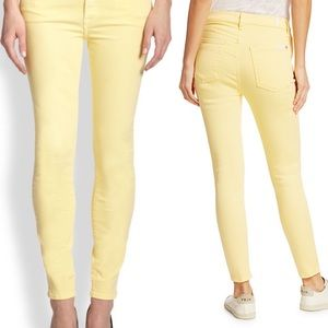 NWOT 7 for all of mankind yellow skinny jeans